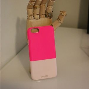 Neon pink ban.do iPhone case